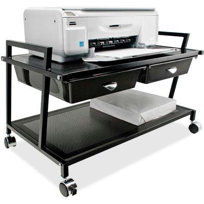 Vertiflex® Underdesk Machine Stand with Two Drawers, Black