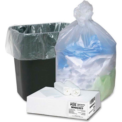 Webster Ultra Plus Trash Can Liners - Natural, 10 Gallon, 0.31 Mil, 500/Case - WBIWHD2423