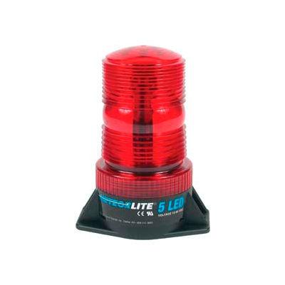 Meteorlite™ 5 High-Profile Strobe Light - 12-80V - Permanent Mount - Red - SY361005-R-LED
