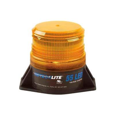 Meteorlite™ 55 Low-Profile Strobe Light - 12-80V - Permanent Mount - Amber - SY361005L-A-LED