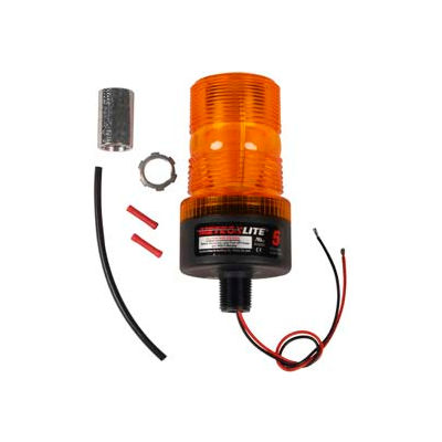 Meteorlite™ 5 High-Profile Strobe Light - 12-80 Volts - Pipe Mount - Amber - SY361005P-A-LED