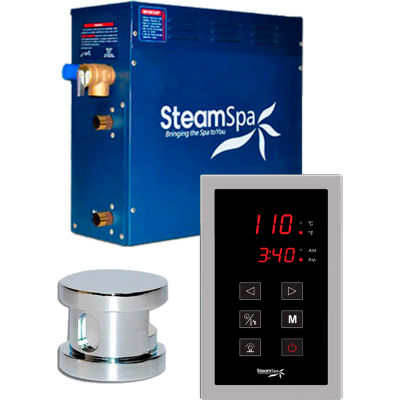 SteamSpa Oasis OAT900CH Touch Pad Steam Generator Package, 9KW, Polished Chrome