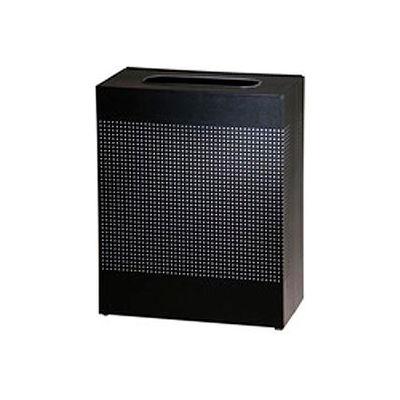 Rubbermaid® Silhouette SR18E Rectangular Open Top Container w/Plastic Liner, 22-1/2 Gal - Black
