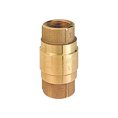 """1-1/4"""" FNPT Brass Check Valve with Buna-N Rubber Poppet"""
