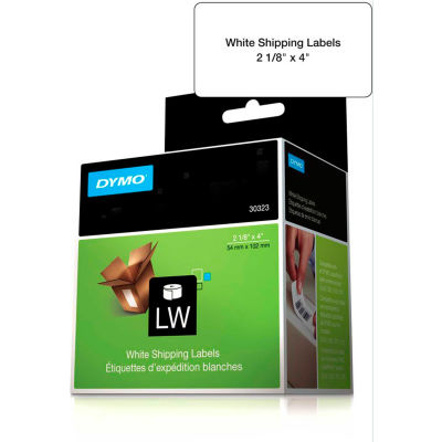 "DYMO® LW Shipping Labels 2 1/8"" x 4"" Black on White"