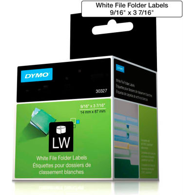 "DYMO® LW File Folder Labels, 1-up 9/16"" x 3 7/16"" Black on White"
