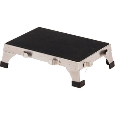 "Clinton™ SS-190 Stainless Steel Stacking Step Stool, 18""W x 12""D x 5-1/4""H"
