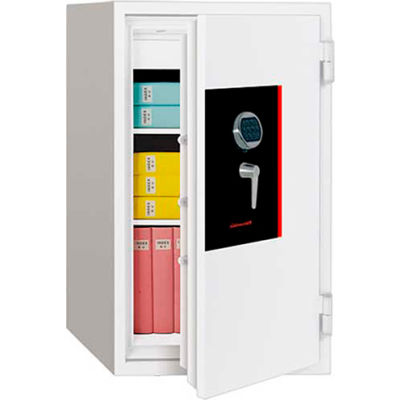 """Wilson Safe Burglar And Fire Safe With Electronic Lock SS110E 24-9/16"""" x 25-3/4"""" x 41-3/4"""", White"""