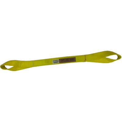 "Safeway EE2-901NX10 1"" x 10' Eye & Eye Heavy Duty Sling, 2-Ply Yellow"