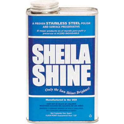 Sheila Shine Stainless Steel Cleaner & Polish, Gallon Bottle, 4 Bottles - 4