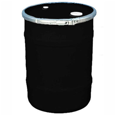 US Roto Molding 15 Gallon Plastic Drum SS-OH-15 - Open Head with Bung Cover - Bolt Ring - Black
