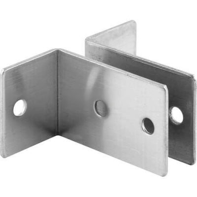 "2 Piece Wall Bracket, 1""X 2-1/2""L X 1-1/2""H X 1-1/4""B, St. Stainless Steel - 650-1920 - Pkg Qty 4"