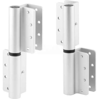 "Round Barrel Hinge Set, 8"", RH-In/LH-Out, Clear Anodized - 650-2843"