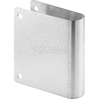 Cover Plate, Round Edge, Stainless Steel, Corner Holes Only - 650-4038-1 - Pkg Qty 6