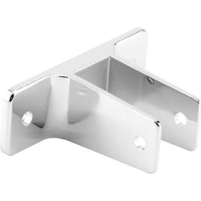 "2 Ear Wall Bracket, 1-1/4"", Chrome - 650-6368 - Pkg Qty 4"