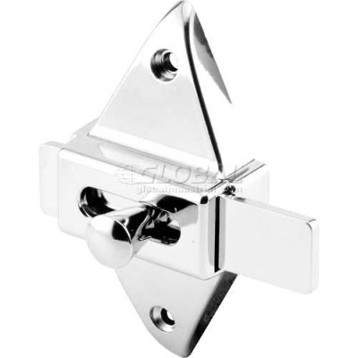 "Slide Latch, 2-3/4"" Centers, Chrome - 650-6596 - Pkg Qty 2"
