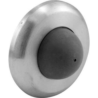 Door Stop, Wall Mount W/Rubber Bumper, Polished Brass - 658-1047 - Pkg Qty 2