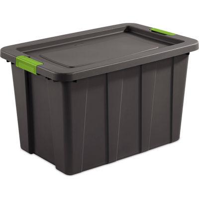 "Sterilite 30 Gallon Latch & Carry Tuff1 Tote 1573V04 Flat Gray 29-7/8"" x 19-3/4"" x 18-1/8"" - Pkg Qty 4"