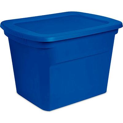 "Sterilite 17311C08 Industrial Tote 18 Gallon 23-1/2"" L x 18-3/8""W x 16-1/8""H Blue Morpho - Pkg Qty 8"
