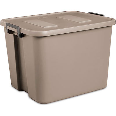 "Sterilite 17426506 Industrial Latch Tote 20 Gallon 22-3/4""L x 18-1/2""W x 16-1/4""H Hazelwood - Pkg Qty 6"