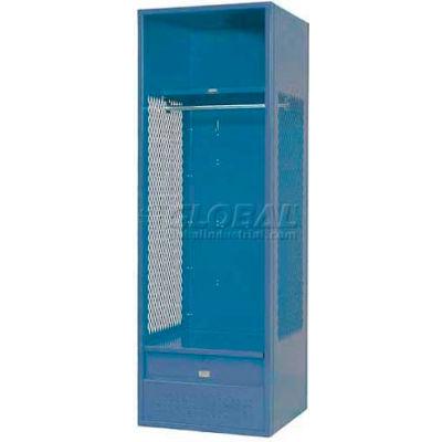 "Penco 6KFD32-949 Stadium® Locker With Shelf & Footlocker, 24""Wx24""Dx72""H Jet Black, Unassembled"
