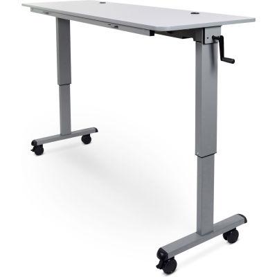 """Luxor Adjustable Height Flip Top Table w/ Crank Handle - 60"""" - Gray"""