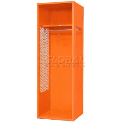 "Penco 6WFD10-949 Stadium® Locker With Shelf, 24""Wx18""Dx76""H, Jet Black, All Welded"