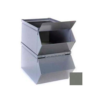 """Stackbin® Removable Hopper Front Cover For 5-1/2""""W x 12""""D x 4-1/2""""H Steel Bins, Gray"""