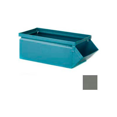 """Stackbin® 5-1/2""""W x 12""""D x 4-1/2""""H Steel Hopper Front Container, Gray"""