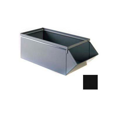 """Stackbin® 7-1/2""""W x 15-1/2""""D x 6""""H Steel Hopper Front Container, Black"""