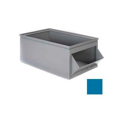 """Stackbin® Steel Bin 1-803 - 12""""W x 23""""D x 10""""H Steel Hopper Box, Blue"""
