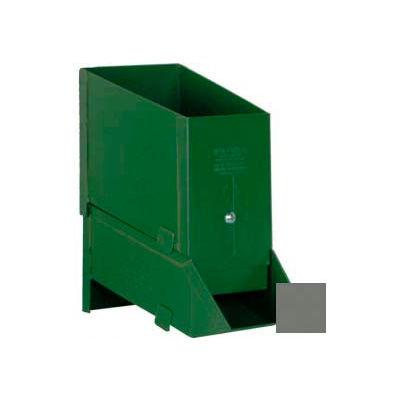 """Stackbin® 4-1/2""""W x 8""""D x 7-3/4""""H Steel Assembly Bin With Hopper, Gray"""