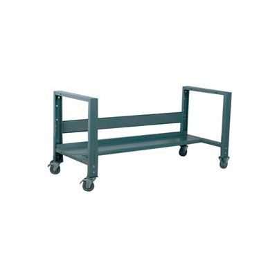"Stackbin 4-6WCONV-WB-BL Basic Mobile Frame W/Solid Bottom, 27""D X 76""H, Blue"