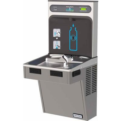 Halsey Taylor HTHB-HAC8PV-WF HydroBoost Refrigerated Bottle Filling Station W/Filter, Platinum Vinyl