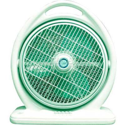 """SPT® Box Fan, 14"""" Blade, 3 Speed Fan, Louver Rotation, 2683 CFM"""