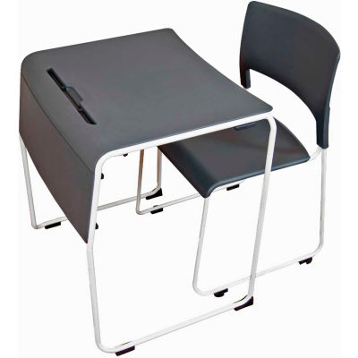Luxor Lightweight Stackable Student Desk and Chair