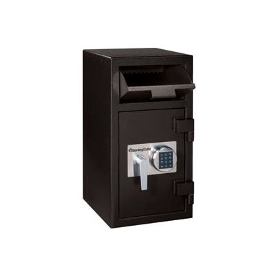 """SentrySafe Front Loading Depository Safe DH-134E - 14""""W x 15-5/8""""D x 27""""H, Black"""