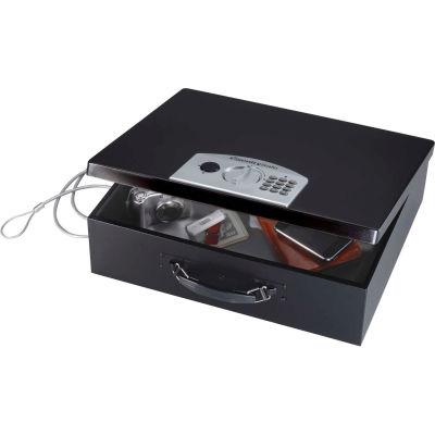 "SentrySafe Portable Laptop Security Safe PL048E Elec. Lock, 17-1/2""W x 13-5/8""D x 5-13/16""H, Black"