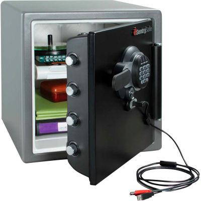 "SentrySafe Fire-Safe® SFW123GTF Electronic Lock USB Connect 16-5/16""x19-5/16""x17-13/16"" Gray"