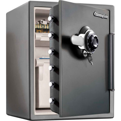 "SentrySafe Fire Safe® SFW205DPB Combination Lock, 18-5/8""W x 19-5/16""D x 23-13/16""H, Gray"