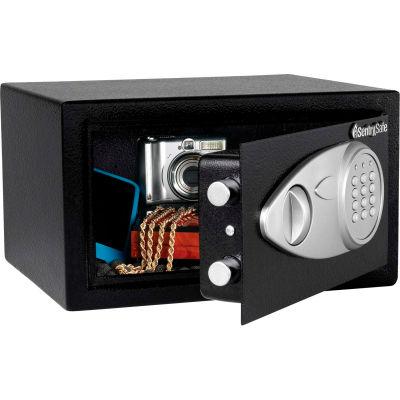 "SentrySafe Security Safe X041E - Electronic Lock, 11-7/16""W x 10-7/16""D x 7-5/8""H, Black"