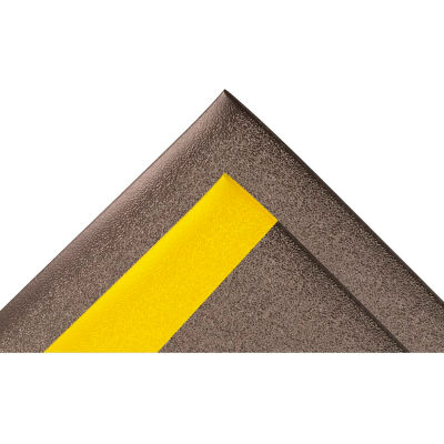 """NoTrax® Sof-Tred™ Surface Mat 5/8"""" Thick 3' x Up to 30' Black/Yellow Border"""
