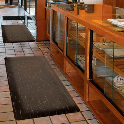 """NoTrax® Marble Sof-Tyle™ Anti Fatigue Mat 1/2"""" Thick 2' x 75' Black"""