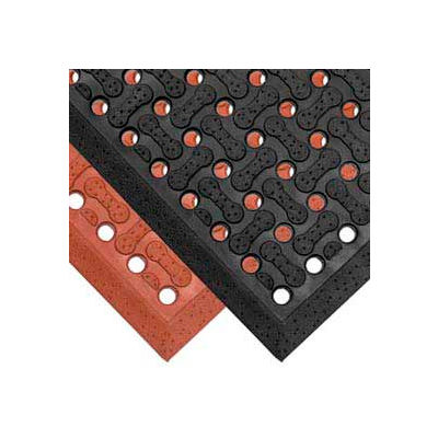 "NoTrax® T18 Superflow™ Anti Fatigue Drainage Mat 5/8"" Thick 4' x 6' Black"
