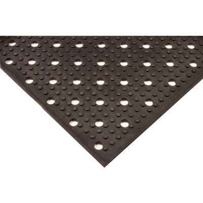 """NoTrax® T23 Multi-Mat II™ Drainage Mat 3/8"""" Thick 2' x 30' Black"""