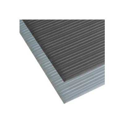 "NoTrax® T42 Comfort Rest Ribbed Foam Mat 3/8"" Thick 3' x 60' Black"