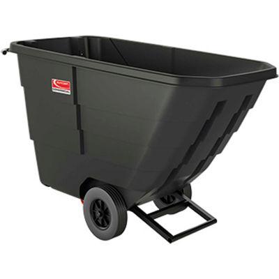 Suncast® Light Duty Plastic Tilt Truck, 1/2 Cu. Yd. Cap, 650 Lbs. Cap, Black