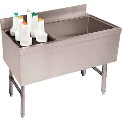 Combo Ice Chest, Coldplate, 21X35, Bottle Storage Rack Left, 35/77 lbs Ice Cap