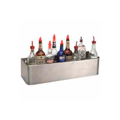 "Bottle Rack, 34"", Double Tier Keyhole, S/S"