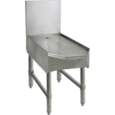 """Advance Tabco SCFD-18, Frozen Drink Machine Stand, 18""""Wx28-3/20""""Dx33""""H, Stainless Steel"""